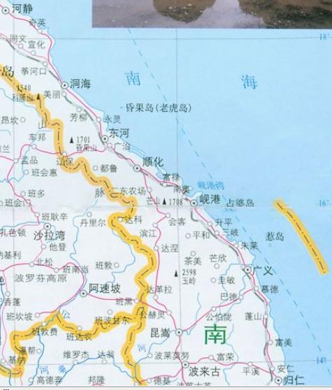 越南中部旅游图示